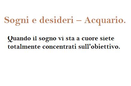 Sogni E Desideri Acquario