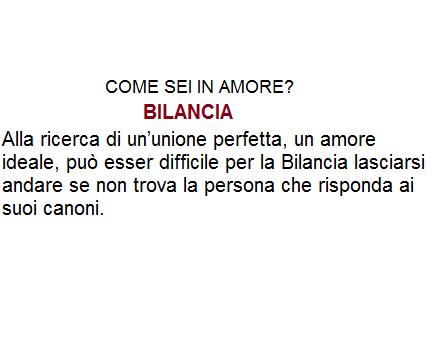 Bilancia Come Sei In Amore